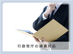 行政官庁の調査対応アイコン